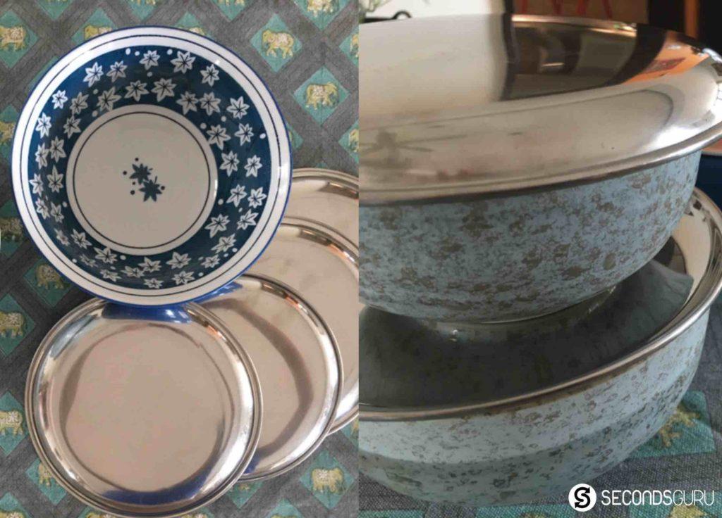 steel plate as lids