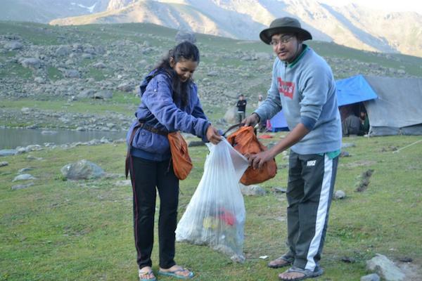 Keep a bag handy as you hike up daily