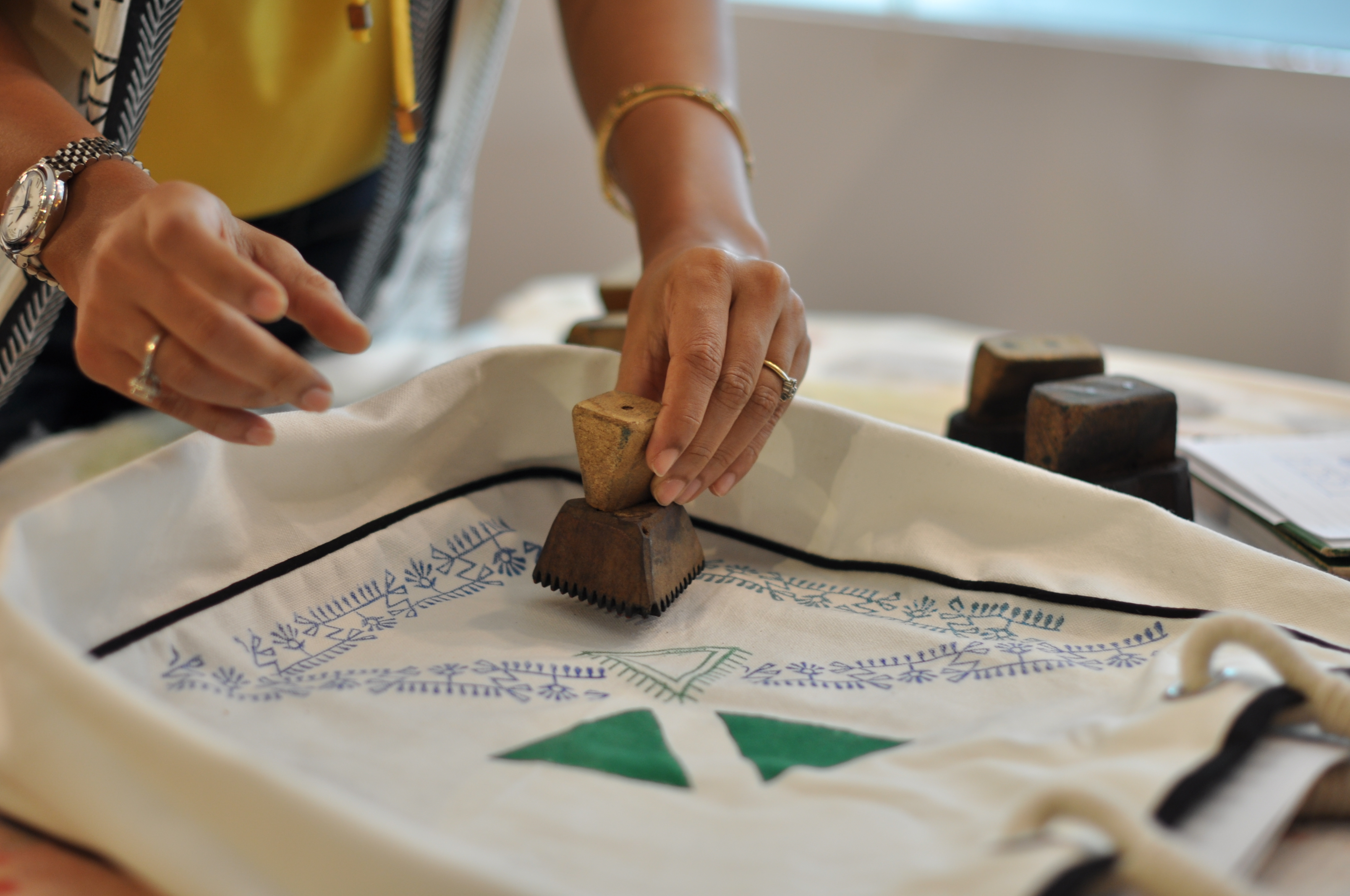 Blockprinting with artisans