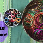 Use cookie tins to store sewing thread or trinkets