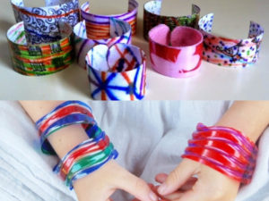 Plastic Bottle converted to bracelets and Bangles