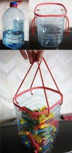 Plastic Bottle Bag with Handles