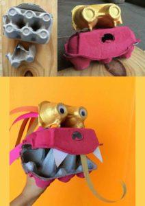 Egg Carton Craft Dragon