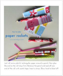 paper craft rockets