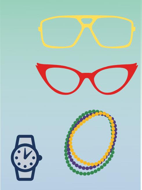 accessories, glasses, watch, jewelry