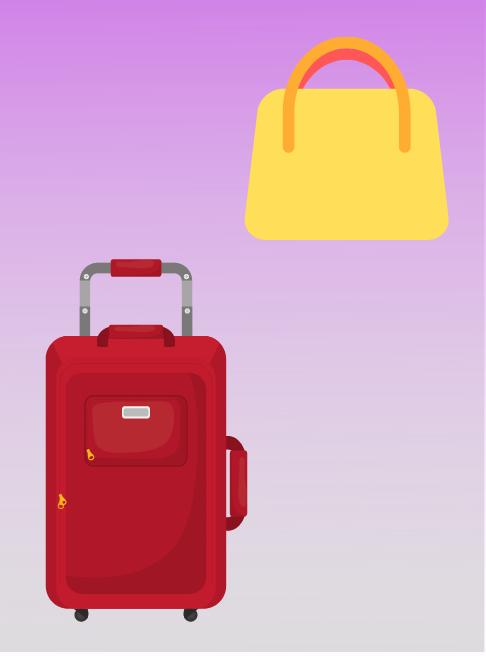 suitcases, travel bags, handbags