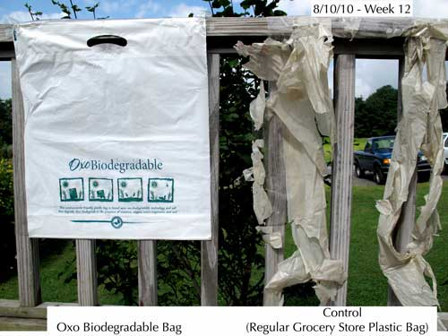 Greenwashing oxobiodegrabale plastic bag