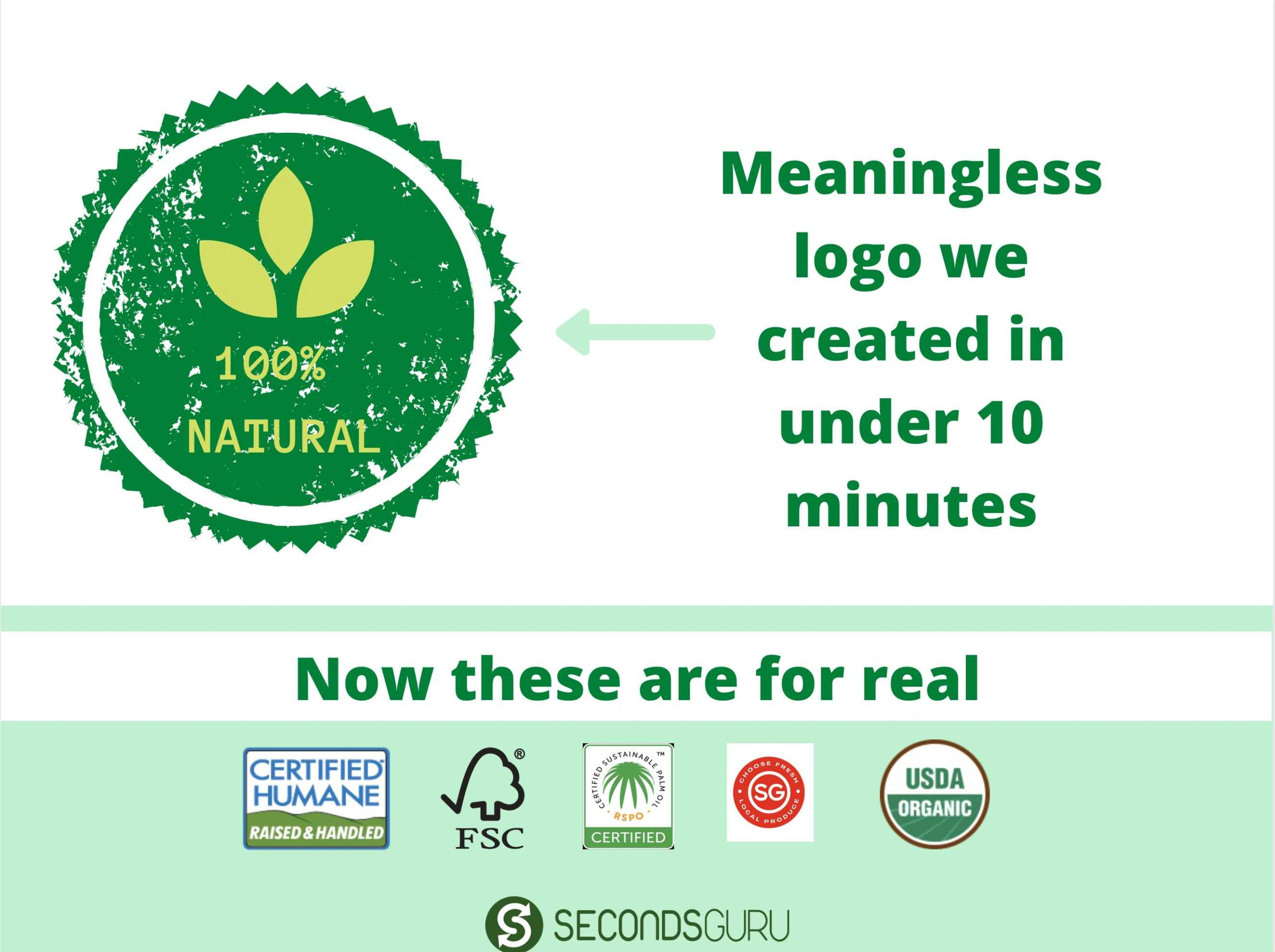 greenwashing labels