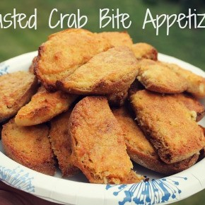 Toasted Crab Bite Appetizers
