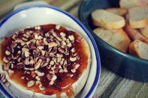 Baked Brie with Fig Jam & Pecans Recipe