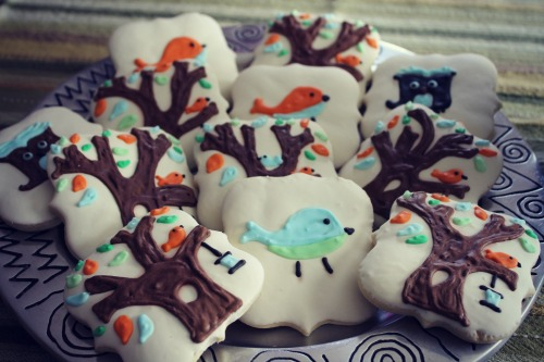 Owl Baby Shower Cookies VS