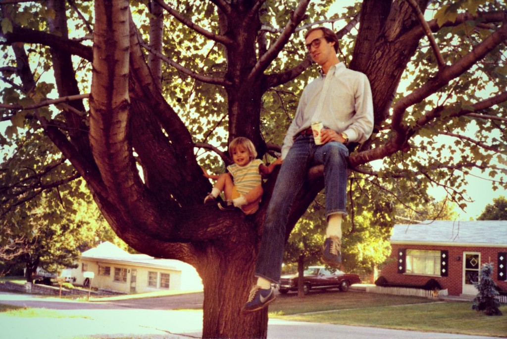 Mike in a tree with Katie and a Beer-=-Conniption #2