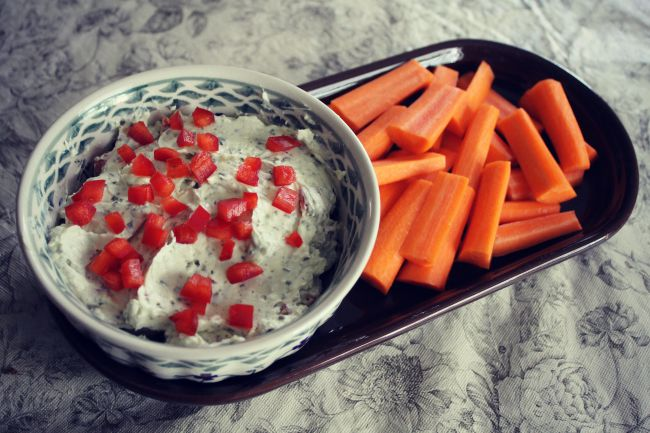 Pesto & Cream Cheese Dip