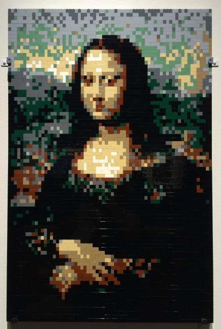 The Art of the Brick Mona Lisa