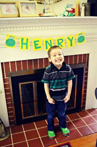 Frog Party Birthday Boy
