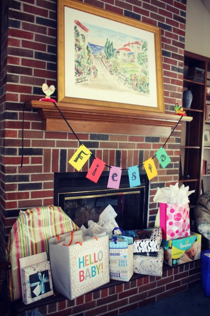 Fiesta Baby Shower Banner and Gifts