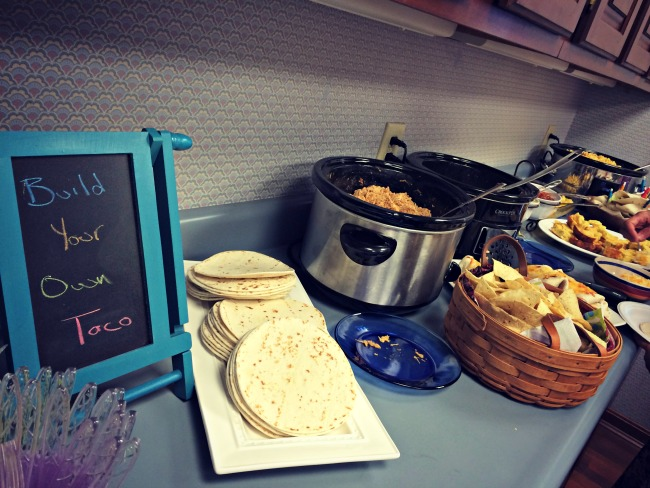 Fiesta Baby Shower Taco Bar