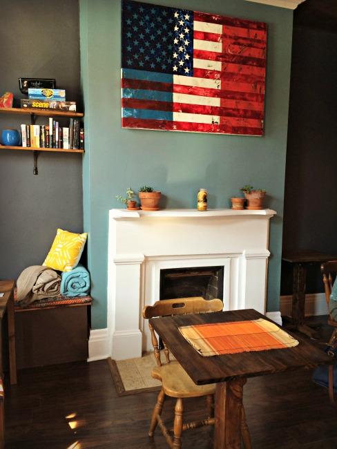 Covington Coffee Company Fireplace