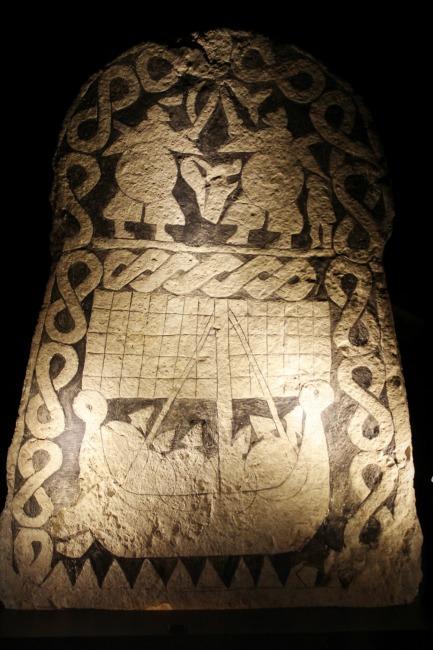 Valhalla mythology on a picture stone.