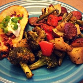 Easy Sausage & Vegetables One Pan Dinner