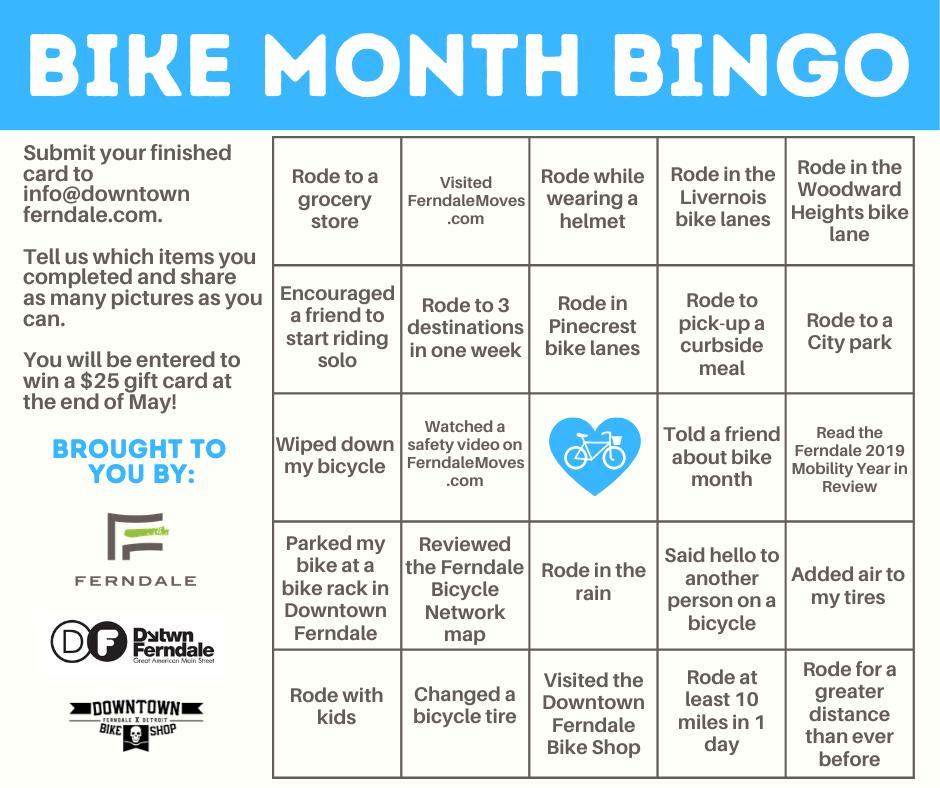 Play Bike Month Bingo!