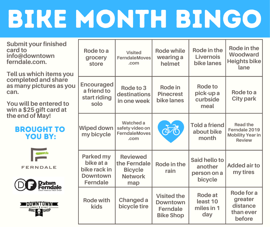 Play Bike Month Bingo!