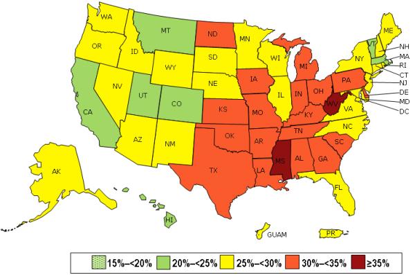 2013 US obesity prevalence
