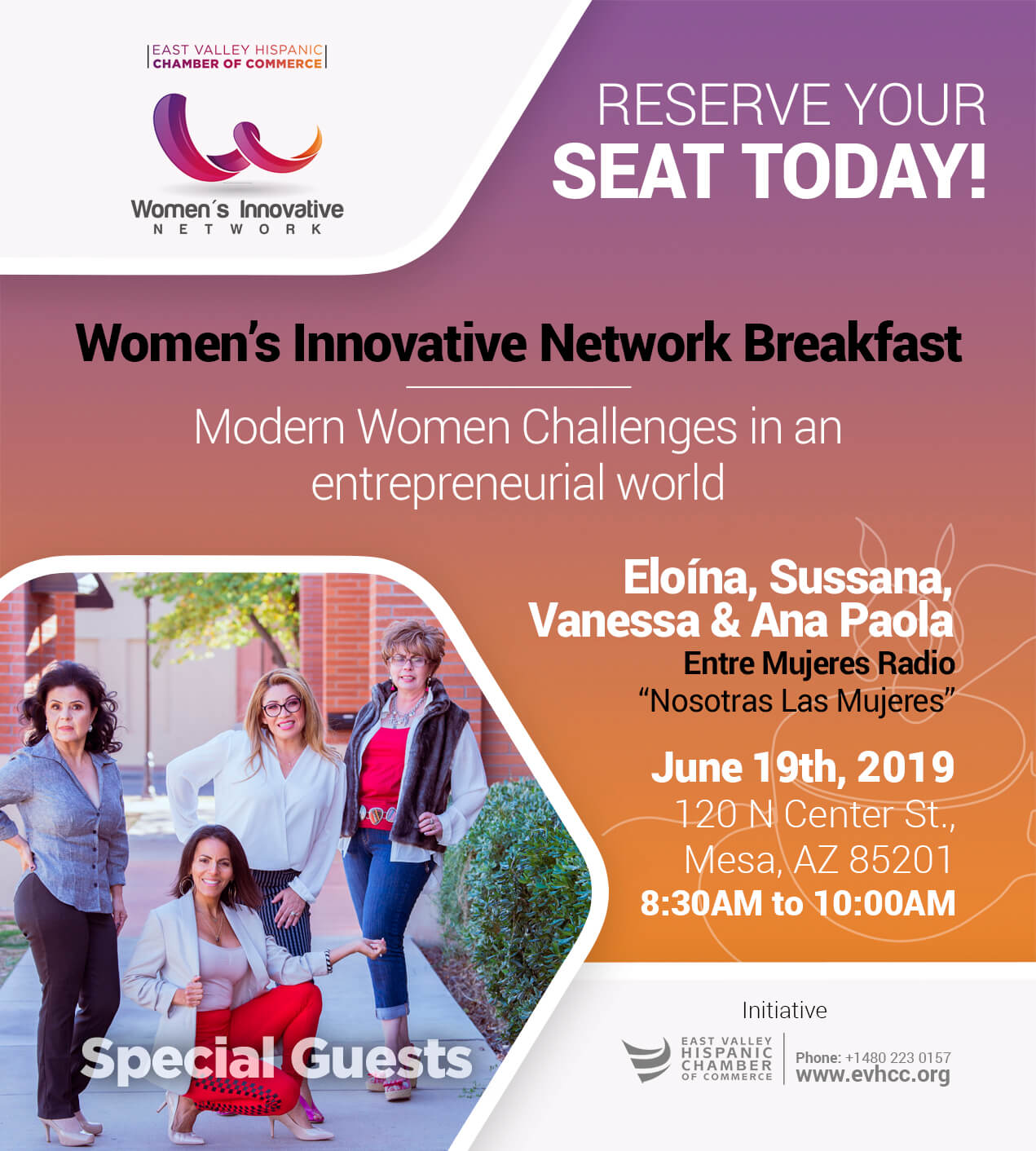 Women's Innovative Network Breakfast by the East Valley Hispanic Chamber of Commerce