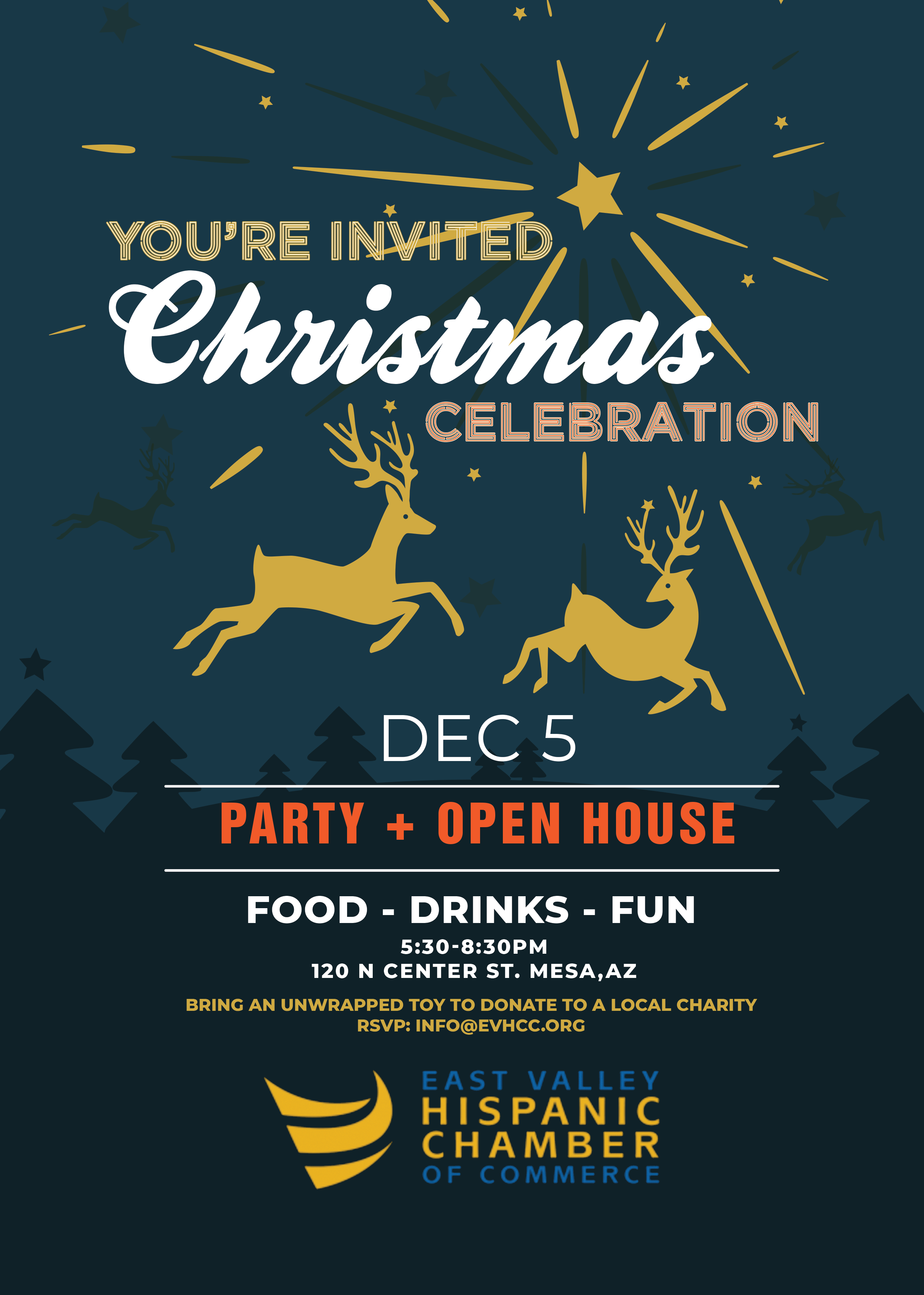 Christmas Celebration Dec 5, 2019 by the East Valley Hispanic Chamber of Commerce