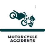 Motorcycle crash icon