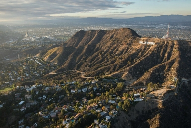 Hollywood Sign Arial Photo