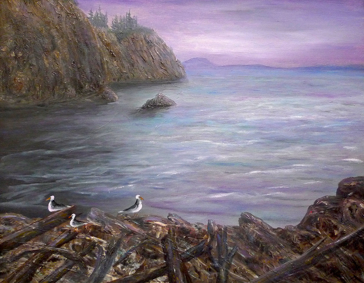 Seabirds Awaiting Darkness