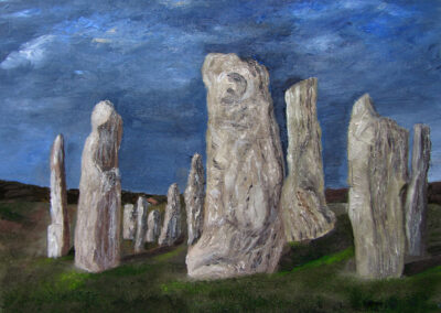 Standing Stones Glowing at Night