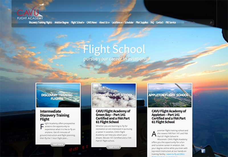 flight school web designer