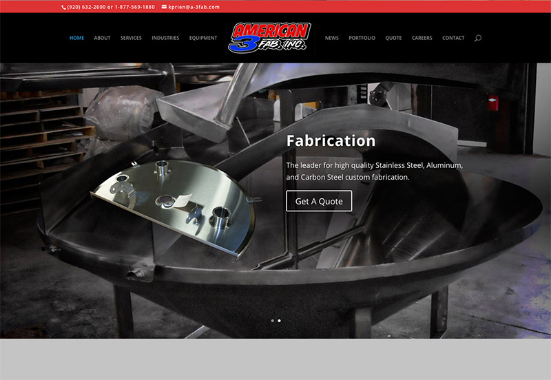metal fabrication web design