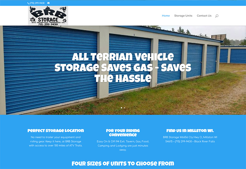 storage unit web design