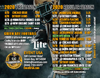 Packers Schedule