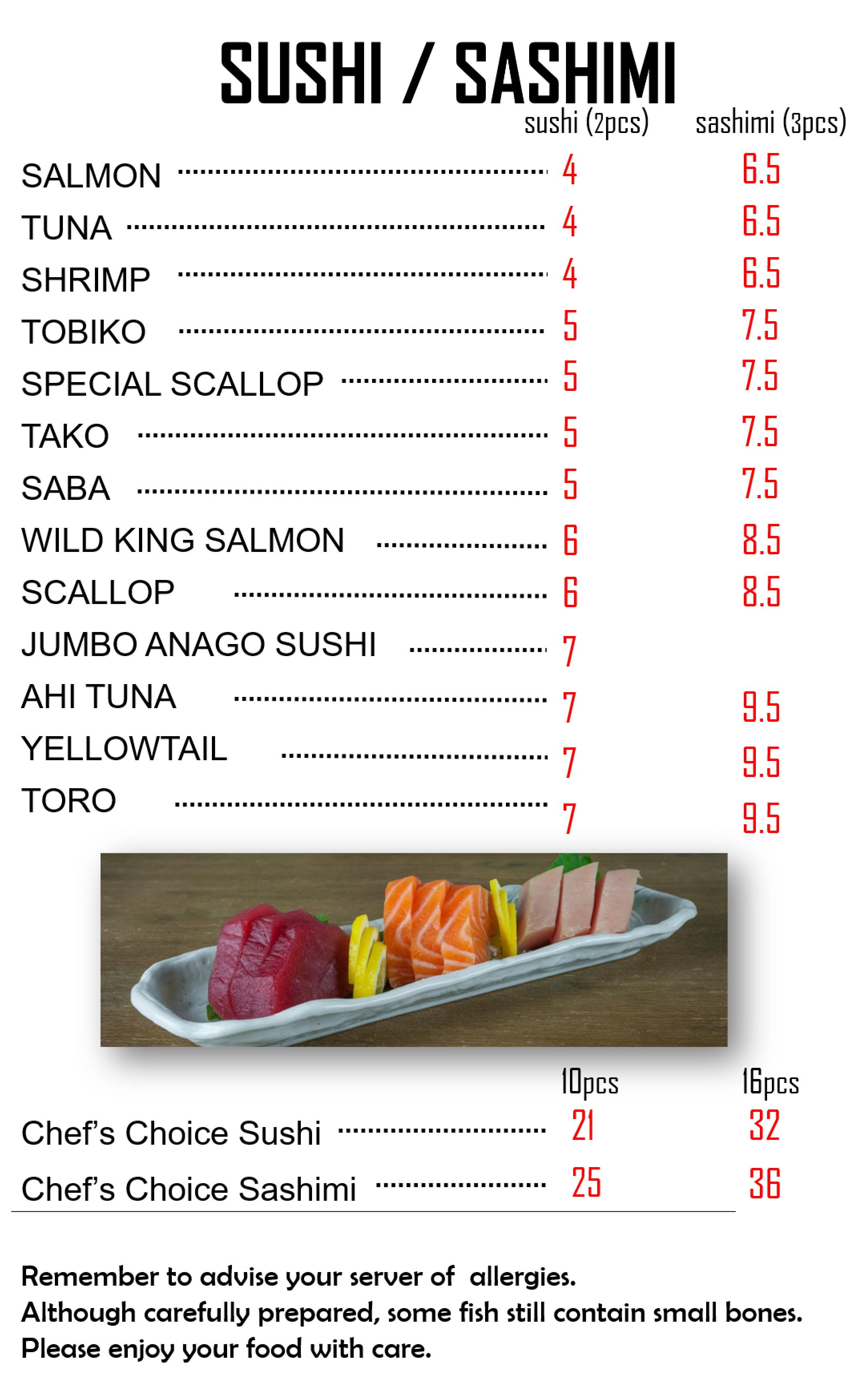 3 Sushi Sashimi