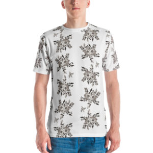 B&W Prairie Rose Bouquet All-Over T-shirt