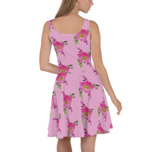Prairie Rose Bouquet Print Skater Dress