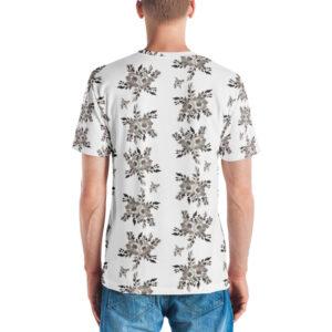 B&W Prairie Rose Bouquet All-Over T-shirt