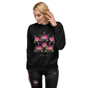 Prairie Rose Bouquet Print Sweatshirt