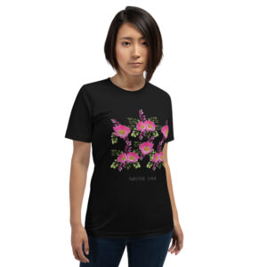 Prairie Rose Bouquet Unisex T-Shirt in Black