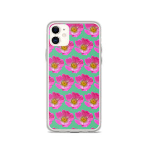 Mint Prairie Rose Print iPhone Case