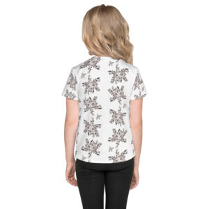 B&W Prairie Rose Bouquet All-over Kids T-Shirt