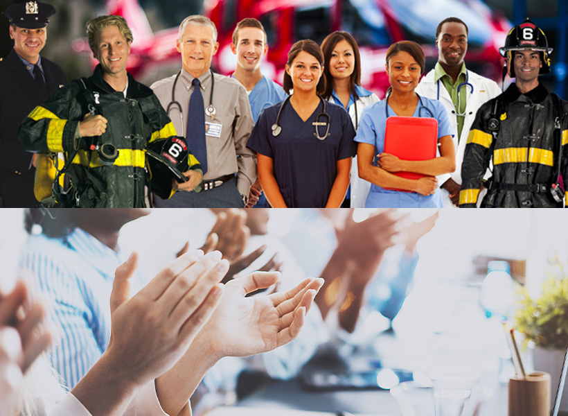 Helping Medical Personnel and First Responders in Hard Times