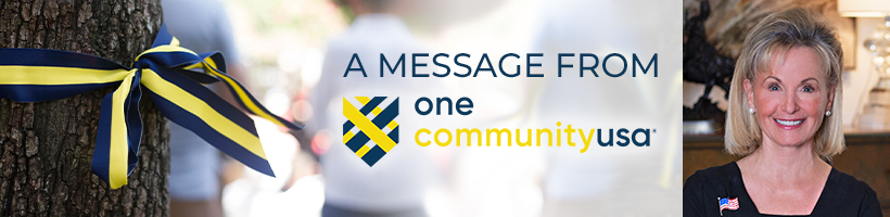 email header with Toni Brinker of One CommunityUSA