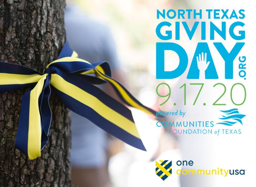 North Texas Giving Day Sept 17, 2020