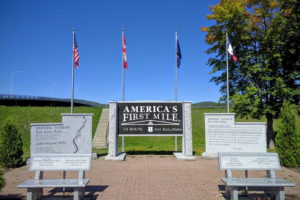 America's First Mile Monument - Fort Kent, ME