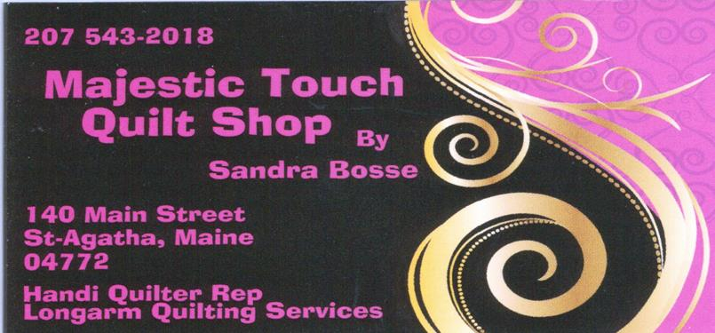 Majestic Touch Quilt Shop Logo